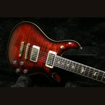 PRS McCarty 594 LTD Fire Red Burst 10 Top Stained Neck